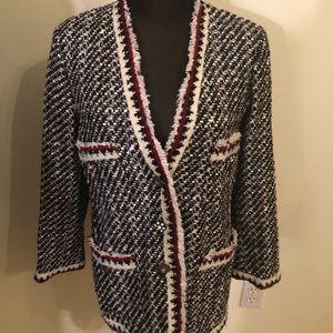 Zara Women tweed blazer with sparkly buttons